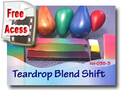 Polymer Clay Tutor Teardrop Blend Shift Video
