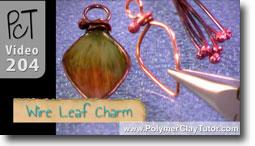 Wire Leaf Charm