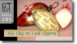 Adding Clay to Your Wire Leaf Charms