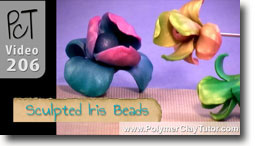 Sculpted Iris Flower Beads