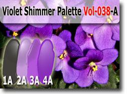 Violet Shimmer Polymer Clay Color Palette