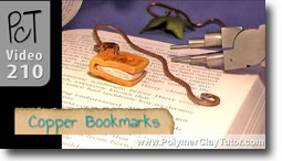 Hammered Copper Bookmarks with Polymer Clay Focal Beads