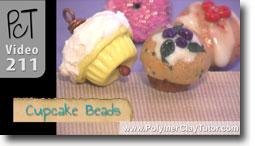 Polymer Clay Cupcake Beads