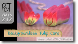 Polymer Clay Backgroundless Tulip Cane
