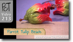 Polymer Clay Parrot Tulip Beads