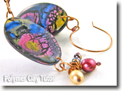 Ballroom Shimmer Earrings - Polymer Clay Tutor