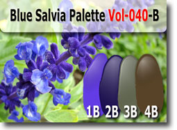 Blue Salvia Color Palette by Polymer Clay Tutor