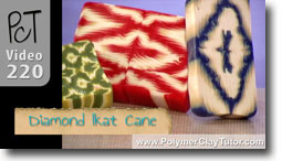 Diamond Pattern Ikat Cane