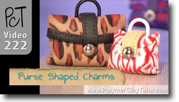 Purse Shaped Charms - Polymer Clay Tutor