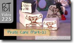 Pirate Canes - Polymer Clay Tutor