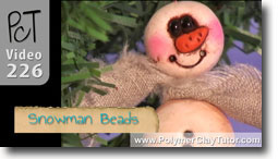 Snowman Beads - Polymer Clay Tutor
