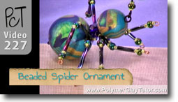 Beaded Spider Ornament - Polymer Clay Tutor