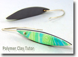Tide Pool Earrings - Polymer Clay Tutor