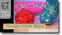 Stamped Bezels - Polymer Clay Tutor