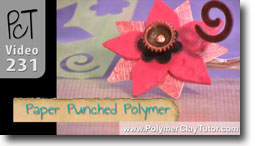 Paper Punched Polymer Technique - Polymer Clay Tutor