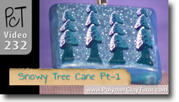Snowy Tree Cane Pt 1 - Polymer Clay Tutor