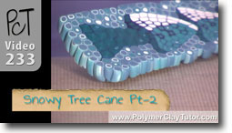 Snowy Tree Cane Pt2 - Polymer Clay Tutor