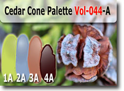 Cedar Cone Palette by Polymer Clay Tutor