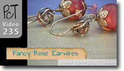 Fancy Rose Earwires - Polymer Clay Tutor