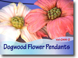 Dogwood Flower Pendants - Polymer Clay Tutor