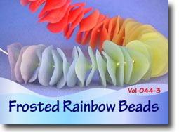 Frosted Rainbow Beads - Polymer Clay Tutor