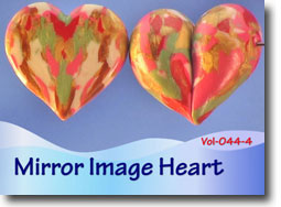Mirror Image Heart Beads - Polymer Clay Tutor