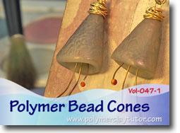 Polymer Bead Cones - Polymer Clay Tutor