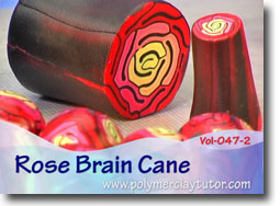 Rose Brain Cane - Polymer Clay Tutor