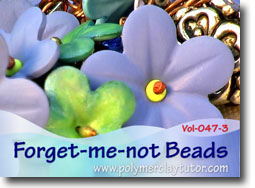Forget-me-not Beads - Polymer Clay Tutor