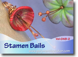 Flower Stamen Bails - Polymer Clay Tutor