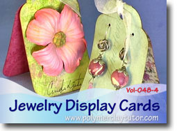 Jewelry Display Cards - Polymer Clay Tutor