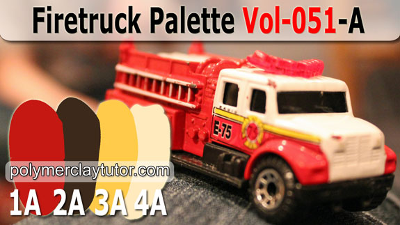 Firetruck Color Palette by Polymer Clay Tutor