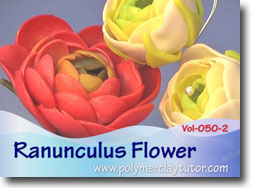 Ranunculus Flowers - Polymer Clay Tutor