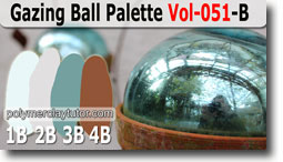 Gazing Ball Color Palette by Polymer Clay Tutor