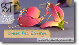 Pt 1 Sweet Pea Earrings - Polymer Clay Tutor