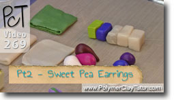 Pt 2 Sweet Pea Earrings - Polymer Clay Tutor