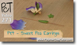 Pt 4 Sweet Pea Earrings - Polymer Clay Tutor