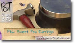 Pt 6 Sweet Pea Earrings - Polymer Clay Tutor