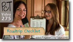 Polymer Clay Tutor Roadtrip Checklist