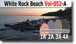 White Rock Beach Color Palette by Polymer Clay Tutor