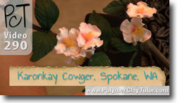 Polymer Clay Tutor Karonkay Cowger Flower Collection