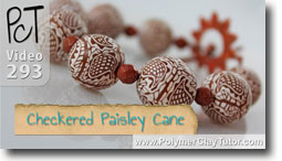 Pt 1 Checkered Paisley Cane Project - Polymer Clay Tutor