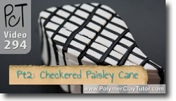 Pt 2 Checkered Paisley Cane and Bracelet Project - Polymer Clay Tutor