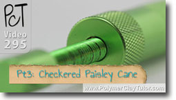 Pt 3 Checkered Paisley Cane and Bracelet Project - Polymer Clay Tutor