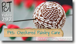 Pt 5 Checkered Paisley Cane and Bracelet Project - Polymer Clay Tutor