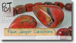 Pt 1 Faux Jasper Cabochons - Polymer Clay Tutor