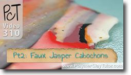 Pt 2 Faux Jasper Cabochons Project - Polymer Clay Tutor