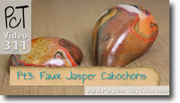 Pt 3 Faux Jasper Cabochons Project - Polymer Clay Tutor