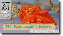 Pt 4 Faux Jasper Cabochons Project - Polymer Clay Tutor