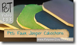 Pt 5 Faux Jasper Cabochons Project - Polymer Clay Tutor